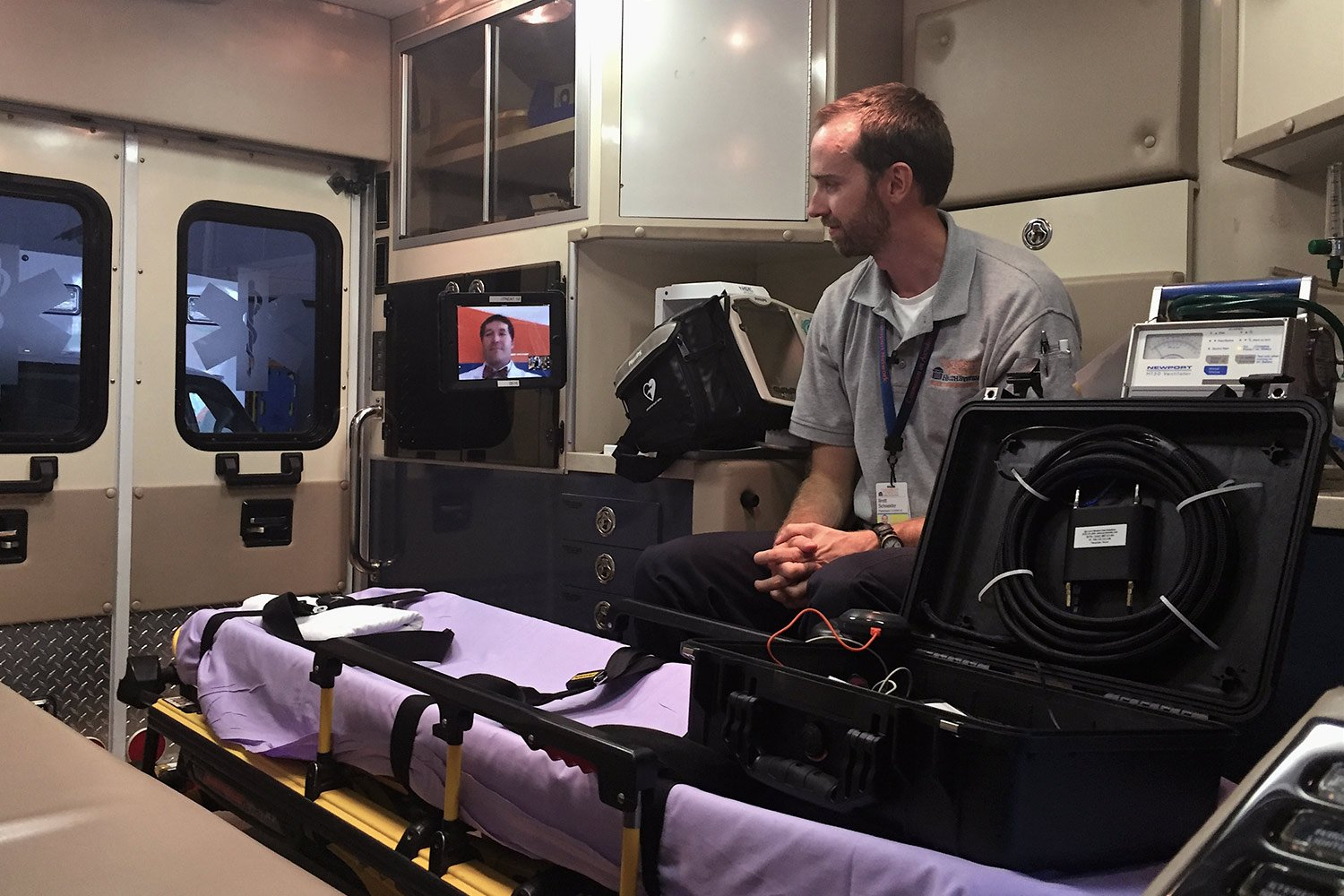 Virtual System Allows Doctors To Ride In Ambulance