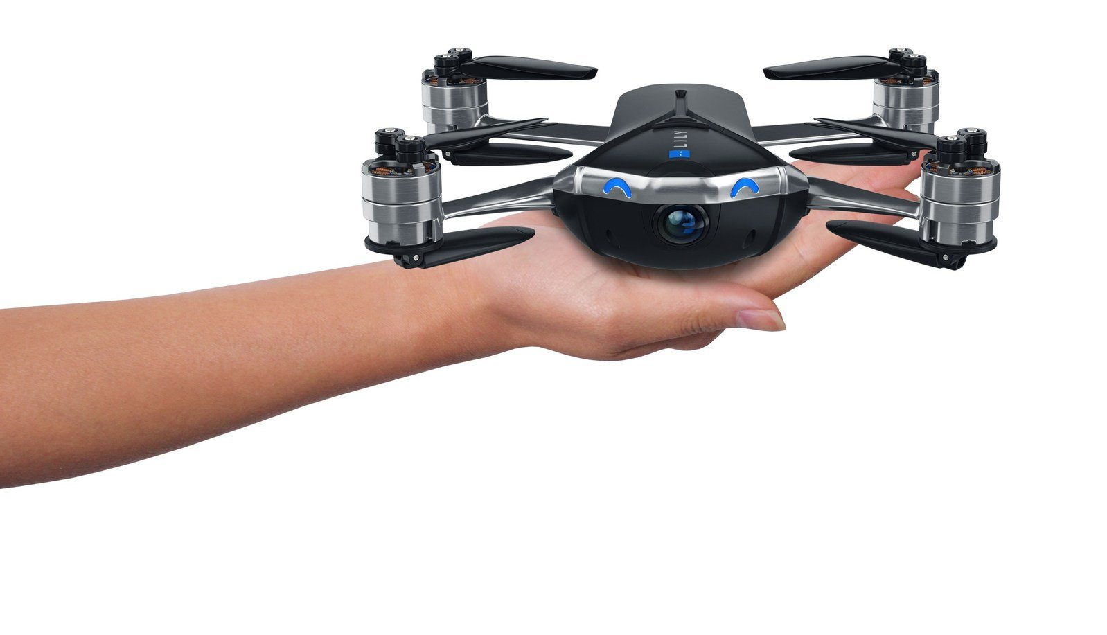 Lily Next-Gen: Point-and-shoot camera drone captures follow-me video in 4K ultra HD. Track a person or fly up to a half mile away. Small enough to fly indoors, light enough to take anywhere. (Mota Group)