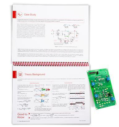 Each kit includes a circuit board and a detailed experiment lab book to guide users on waveforms, tradeoffs, performance characteristics and parameter interactions. Image source: Texas Instruments.