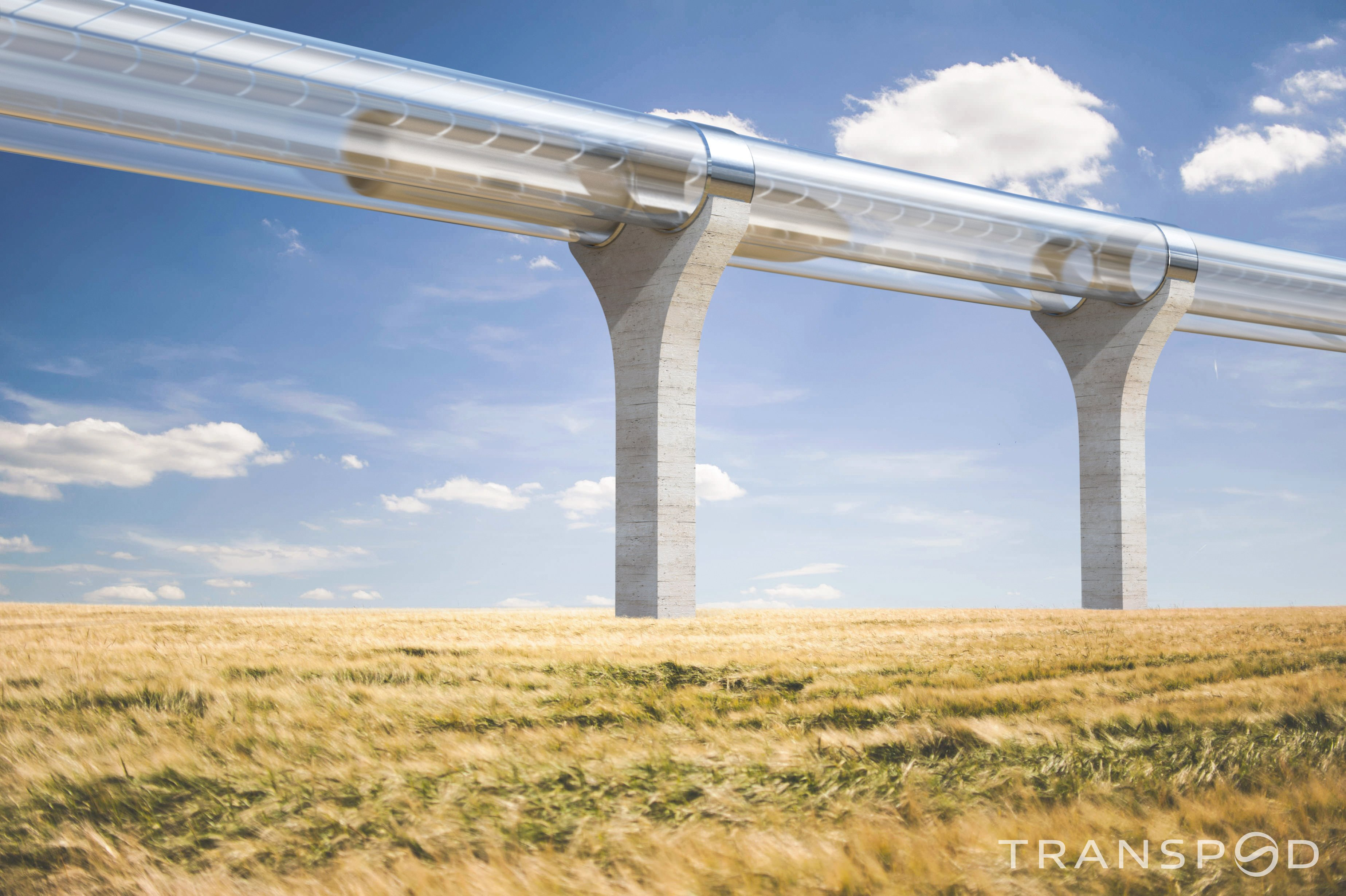 An artist's conception of a TransPod hyperloop system. Source: TransPod