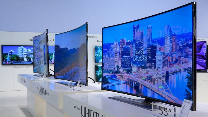 Samsung curved TVs. Source: Karlis Dambrans / CC BY 2.0