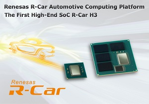 Renesas says its third-generation R-Car SoC will work in a wide range of automotive applications from safety to infotainment. (Source: Renesas)