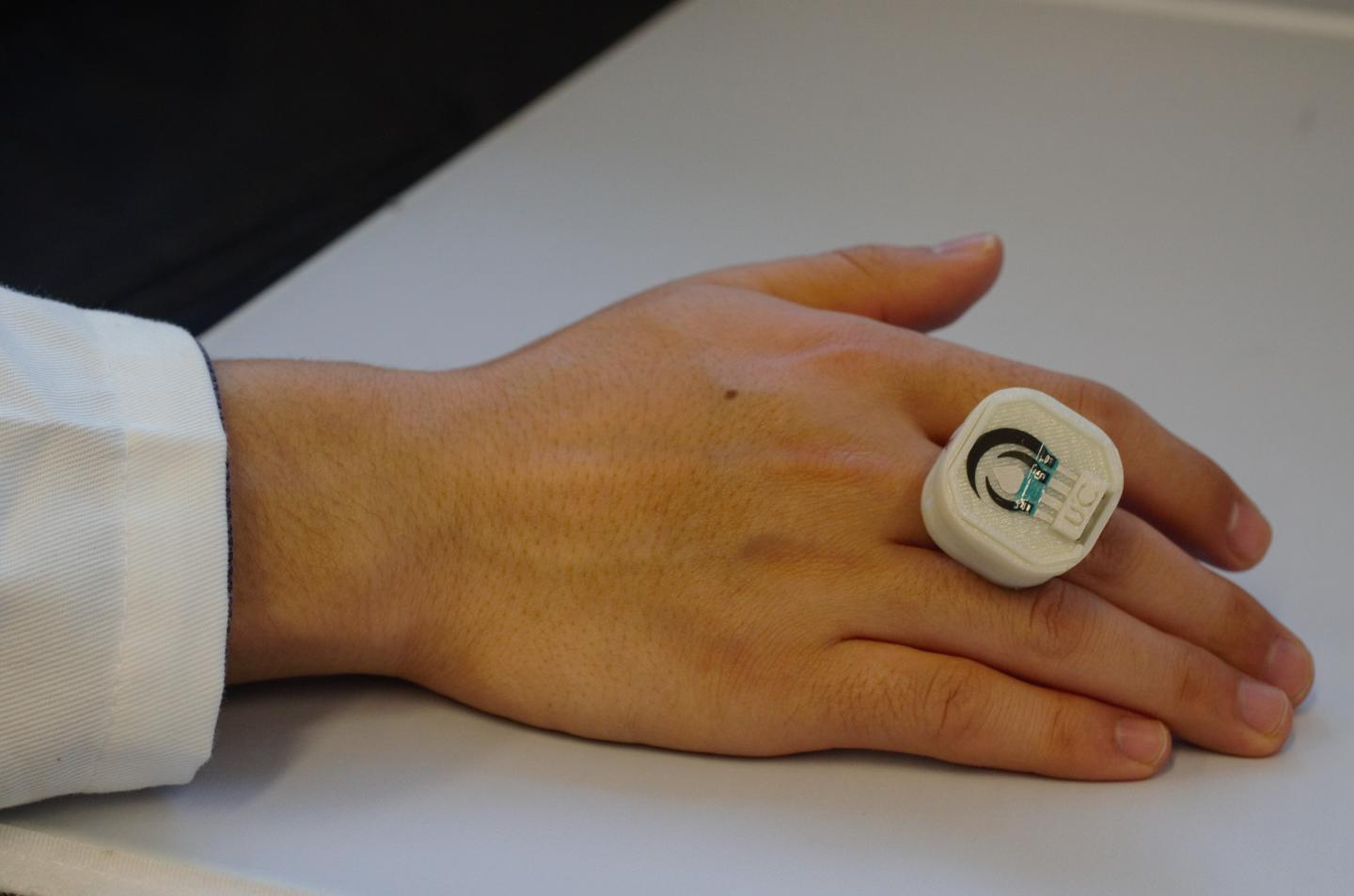 A first-of-its kind ring sensor can detect chemical and biological threats. (American Chemical Society)