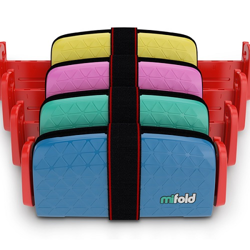 MiFold is a grab-and-go booster seat that is 10 times smaller and ultra-portable for vacations or travel. Source: Indiegogo