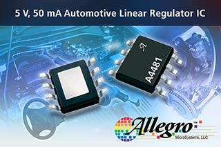 The A4481 linear voltage regulator power automotive systems components.