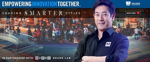 A new video series with Grant Imahara will look at making cities more intelligent. Source: Mouser