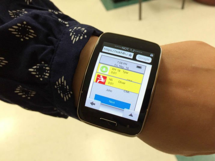 The smartwatch application could improve communication and notification systems for nursing homes, which are often faulty and inefficient. (Image Credit: John Brhel/Binghamton University)