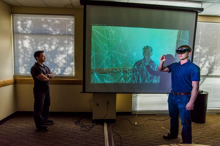 Sandia uses augmented reality headsets to help train security personnel around the world. Source: Sandia National Laboratories