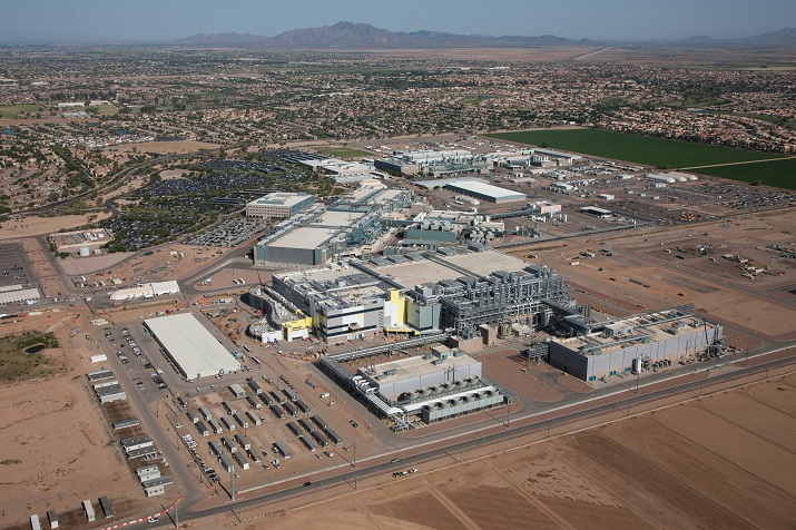 Intel plans to invest more than $7 billion to complete its Fab 42 manufacturing facility in Chandler, Ariz. Source: Intel