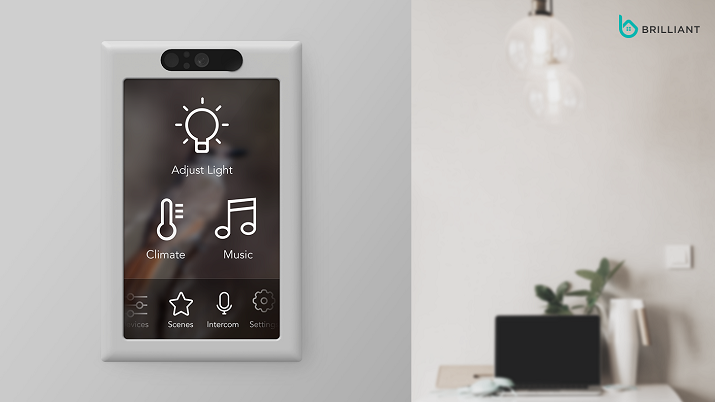 The Brilliant Control smart home system has Amazon Alexa voice commands built-in and connects to leading smart home devices. Source: Brilliant