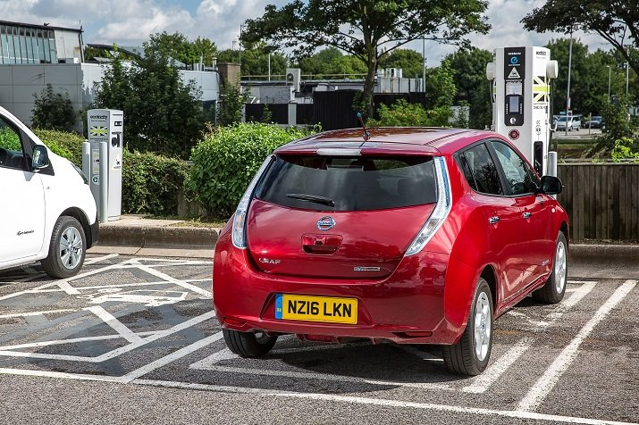 Nissan says electric vehicle charging stations will be part of a larger conceptual vision for the next-generation fuel station that will include battery storage, wireless charging and over-the-air connectivity. Source: Nissan