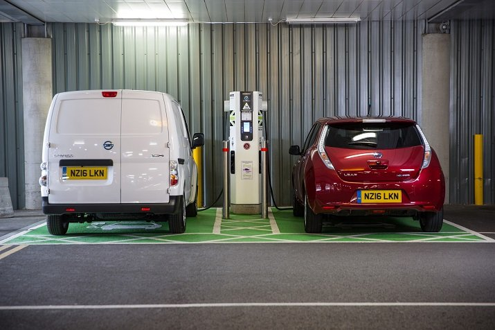 With fuel stations being discontinued for the past 40 years in the U.K., the rise in popularity of electric vehicles is increasing the number of charging stations across the country. Source: Nissan