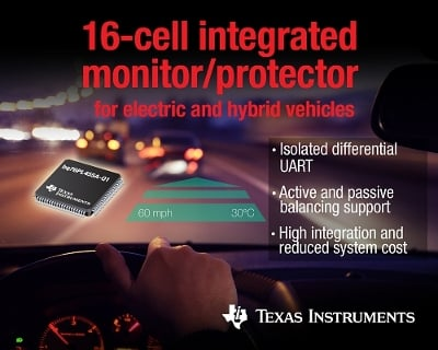 Texas Instrument's bq76PL455A-Q1 battery monitor