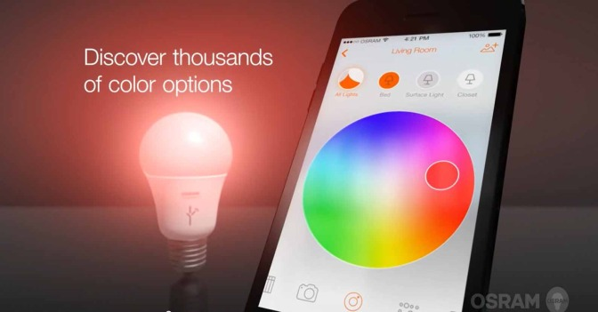 Osram made its Lightify range of smart LED lamps compatible with Google's Nest home control system.