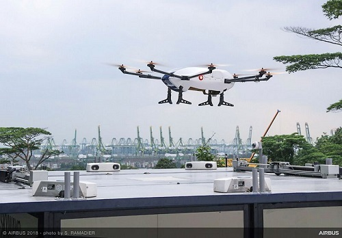 The drone used in the Skyways project at the NUS campus. Source: Airbus
