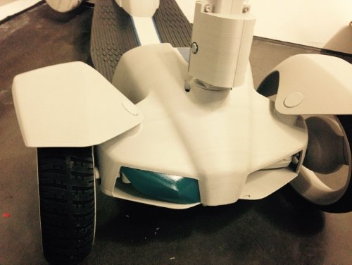 The prototype for the e-floater scooter made with 3D printing. (Source: Stratasys)