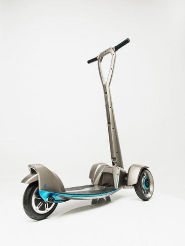The e-floater scooter is an all-electric, solar-powered vehicle that was developed using 3D printing. (Source: Stratasys)