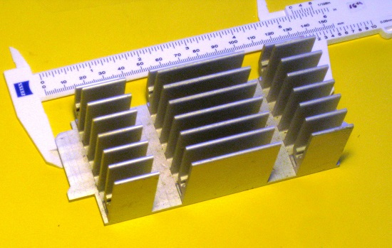 This standard catalog heat sink can be used on top of a large number of power-related modules. (Source: Bill Schweber)
