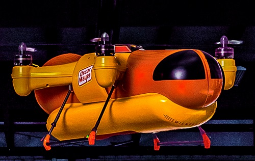 The Wienerdrone will deliver hot dogs to remote locations. Image credit: Oscar Mayer