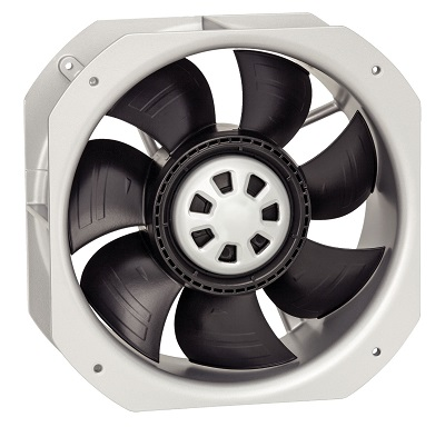 ebm-papst W2E200 and W2E250 axial fan packages.