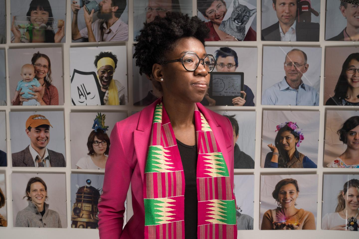 This is Joy Buolamwini, a researcher in the MIT Media Lab's Civic Media group. (Source: Bryce Vickmark)
