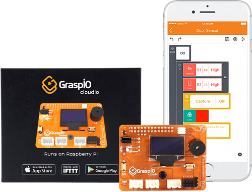 The GraspIO Cloudio developer board with drag-and-drop interface. Source Newark Element14