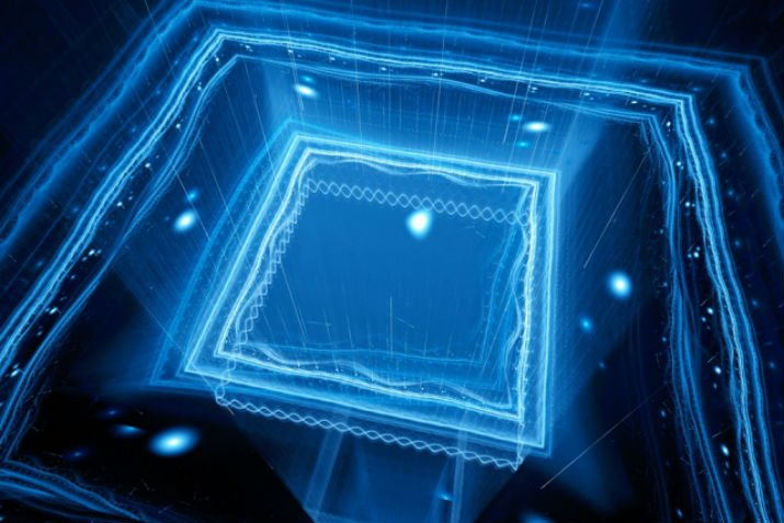 Researchers take an important step toward practical quantum computers with a prototype chip that can trap ions in an electric field. (Image Credit: MIT)