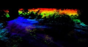 A specially designed laser system and a new methodology based on gated digital holography enable LiDAR to see through obscuring elements like foliage and netting. (Credit: U.S. Naval Research Laboratory)