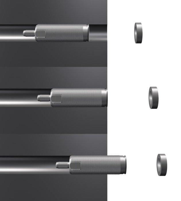 Figure 5: Flexible mounting options make magneto-inductive sensors ideally suitable for integration into machines (Source: Micro-Epsilon)