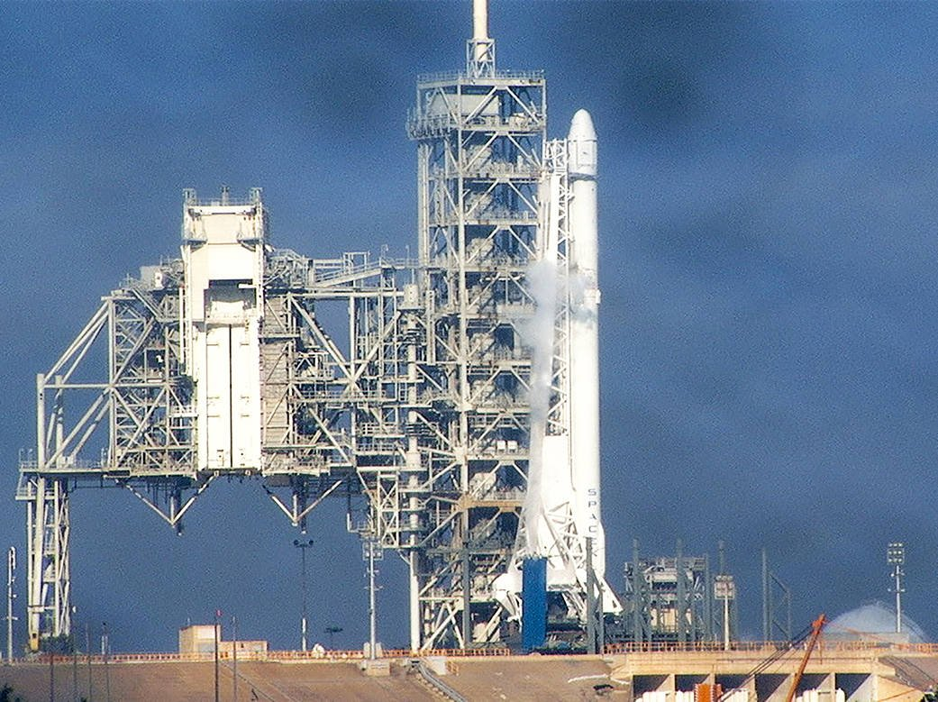the falcon 9 fuels up for an historic launch photo courtesy of nasa