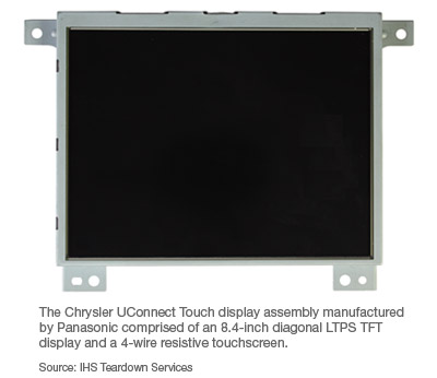 "stack""—is defined by the choice of an 8 4-inch diagonal ltps tft  display with 640 x 480 resolution and a conventional 4-wire resistive  touchscreen"
