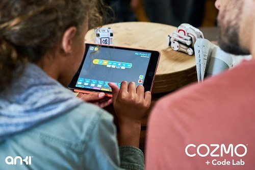 Kids can control movement, actions and personality of robots through coding. Image credit: Anki
