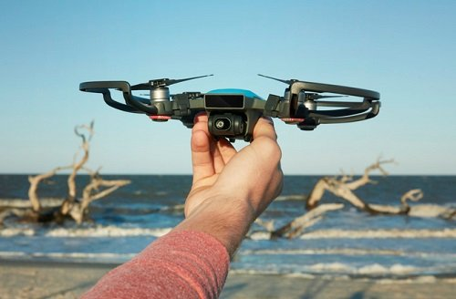 The Spark drone from DJI is a lower cost drone with longer battery life. Image credit: DJI