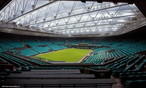 LED lighting will be shown for The Championships 2017 at Wimbledon. Image credit: Musco