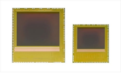 Jointly developed by Infineon Technologies and pmdtechnologies, the new image sensor chips of the REAL3 family (Left: IRS1125C, Right: IRS1615C) are exclusively delivered as bare die to allow maximum design flexibility while minimizing system costs.  (Source:  pmdtechnologies gmbh)