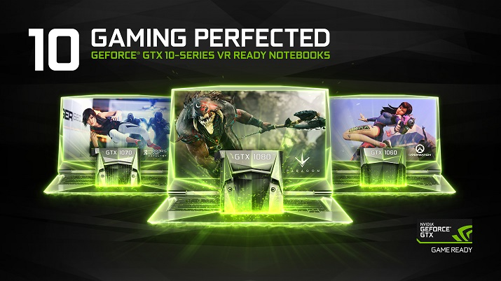 The GTX-10 series for notebooks provides up to two times the battery life in devices while gaming and enables 4K resolution for the first time in notebooks. Source: Nvidia