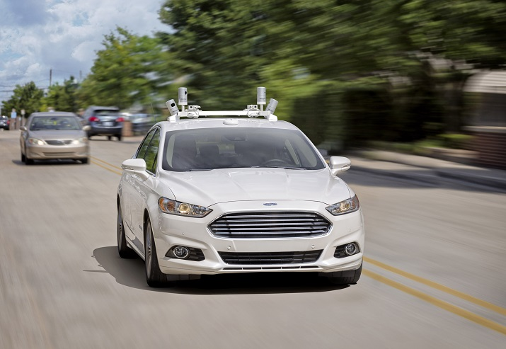 Ford's first autonomous vehicle that will be available will come without a steering wheel or gas and brake pedals. Source: Ford