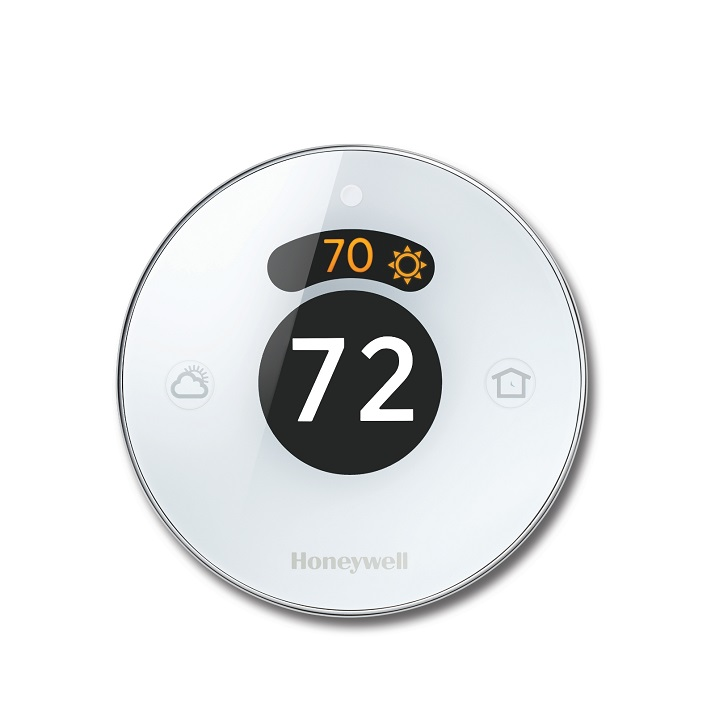 The Honeywell smart thermostat can be controlled directly or through a number of Smart Home ecosystems such as Amazon Alexa. Source: Honeywell