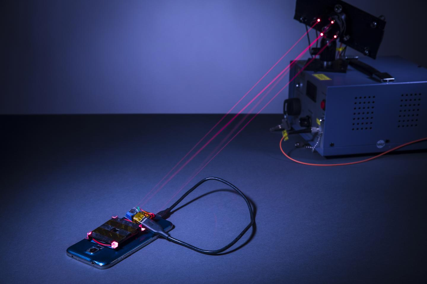 The wireless charging system created by University of Washington engineers. Source: Mark Stone/University of Washington