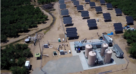 Enervault's megawatt-hour scale, iron-chromium redox flow battery near Turlock, Calif. Source: Enervault