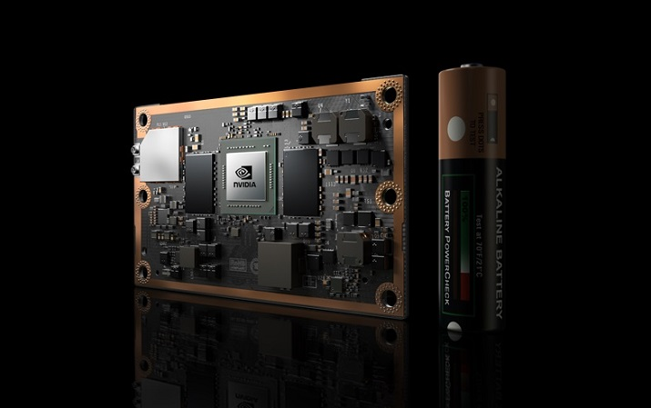 The Jetson board is based on Nvidia's Pascal architecture and features dual 64-bit Denver 2 Quad ARM A57 processors. Source: Nvidia