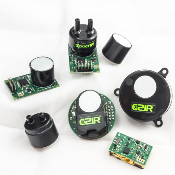 The GSS range of standard, solid state CO2 sensors. Source: GSS