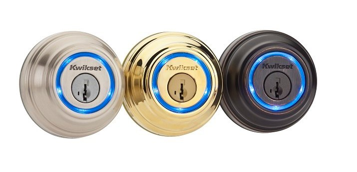Kwikset's Kevo smart locks give lock notifications and activity history through a smartphone application and allow electronic keys for home access to friends and family. Source: Kwikset