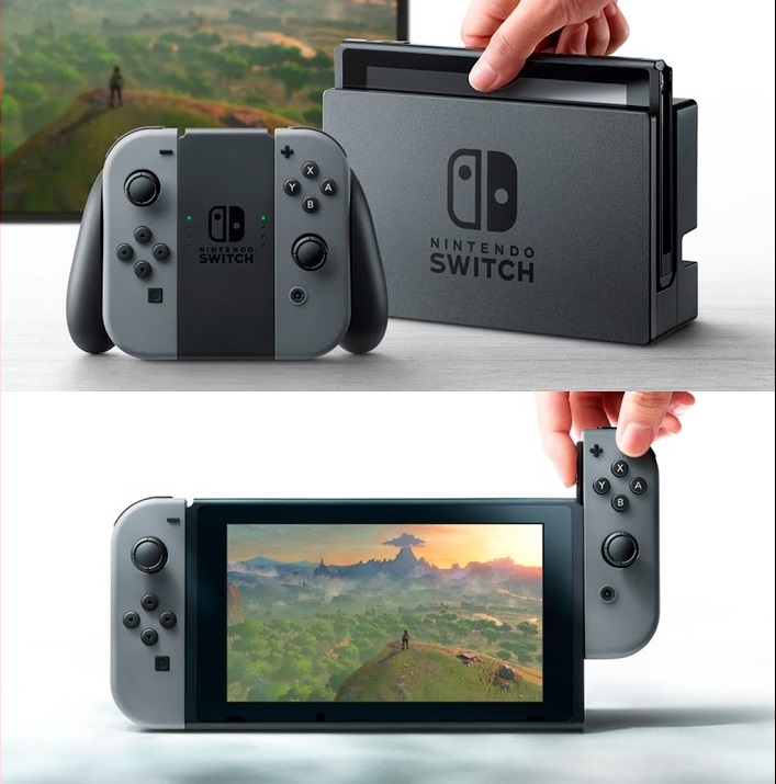 Nintendo's Switch is the latest gaming system from the company allowing players to play at home or become a mobile player for playing away from the house. Source: Nintendo