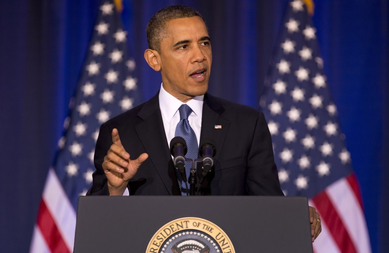 Former President Obama giving a speech. (Source: American Revolution, Youtube)