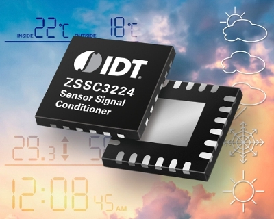 When combined with a 26-bit DSP, the chip can be used in consumer, industrial, white goods and medical applications. Source: IDT