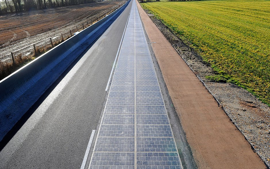 Solar road in Normandy. Credit: COLAS-Yves Soulabaille