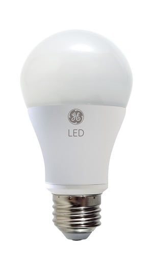 LED bulbs are more energy efficient than CFL bulbs and last much longer but also cost much more. (Source: GE)