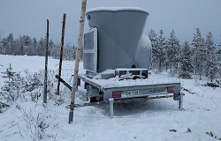 Triton remote sensor installed at Puhuri Oy site in northern Finland. (Source: Vaisala)
