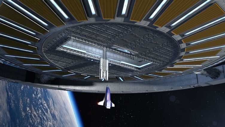 drones in space to remove space junk and repair space
